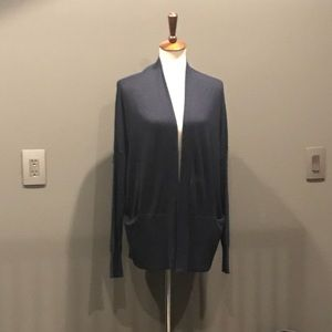 Vince silk and cashmere navy cardigan size small.